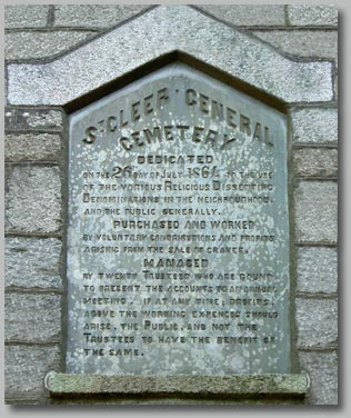 Click to enlarge  - Cemetery Plaque